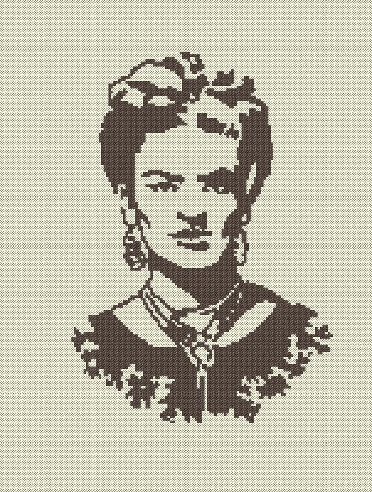 Frida, Frida Kahlo, Cross Stitch, XStitch, Ponto Cruz, Craft, Crafting, Artesanato