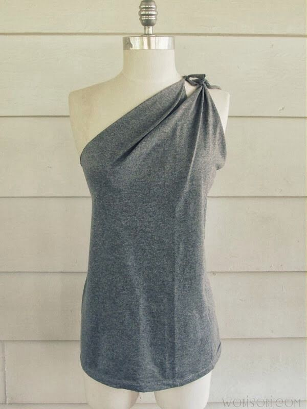 DIY Shoulder Tied T-Shirt- No Sew!
