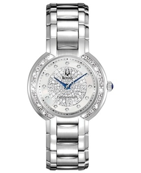 Bulova Watch, Women's Precisionist Diamond (2/3 ct. t.w.) Stainless Steel Bracelet 30mm 96R170 in December Fine Watch 2012 from Macy's on shop.CatalogSpree.com, my personal digital mall.