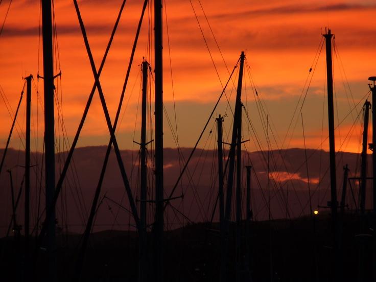 Sunset in Napier, New Zealand