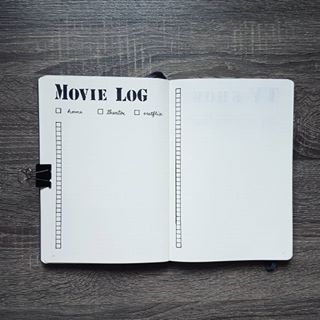 Voici mon nouveau Movie Log, pour noter les films que j'écoute, dans mon nouveau Bullet Journal pour mes collections!    #bulletjournal