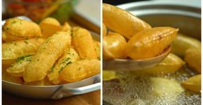 A batata é um dos alimentos mais versáteis que existe, e costuma agradar a muitos paladares. Dá para inovar até na batata frita, com a versão soufflé, que deixa as fatias infladas e muito crocantes. A receita é muito mais simples do que você imagina. Aprenda!Batata SouffléIngredientes3 unidades de batatas Aste