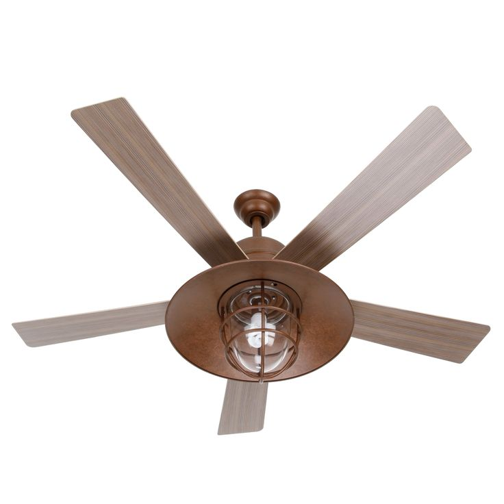 Metro 54 In Rustic Copper Indoor Outdoor Ceiling Fan
