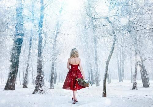 winter wonderland/ red riding hood