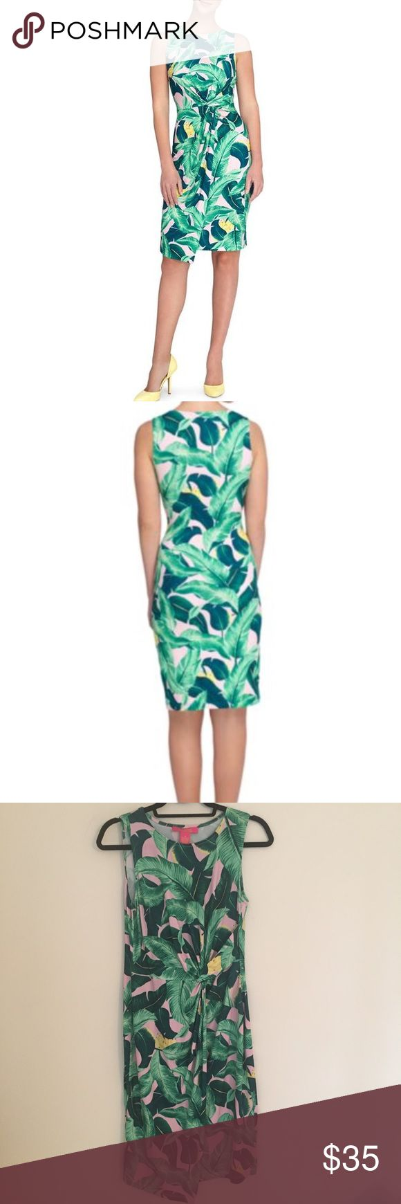 Catherine Malandrino Palm Print Dress Pink with green palm leaves and bananas. Super cute print! Size medium. New with tags. Catherine Malandrino Dresses