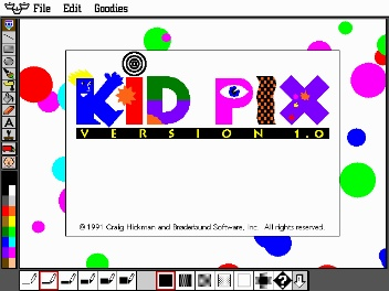 Kid Pix....I hated this with a passion.  Computer class in Elementary School consisted of nothing but KidPix.