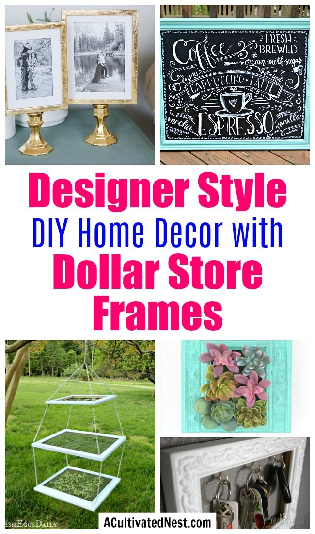 Designer Style DIY Decor with Dollar Store Frames