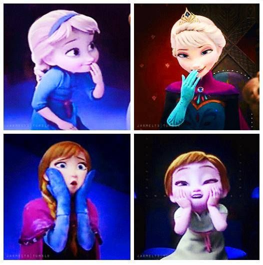 Anna and Elsa | Can you see how adorable they are?