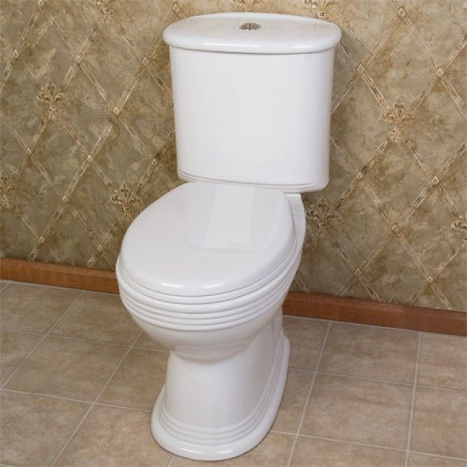 Jeanette Dual-Flush European Style Rear Outlet Toilet - Two-Piece - ADA Compliant - White - Toilets and Bidets - Bathroom 26D - $289