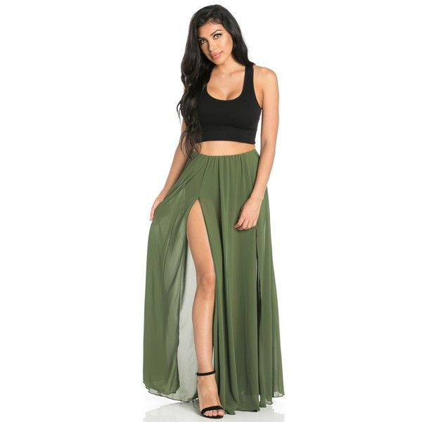 Best 25  Olive maxi skirts ideas on Pinterest | Maxi skirt ...