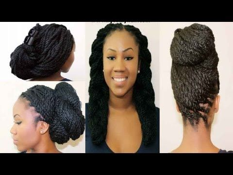 4 Styles for Marley/Senegalese Twists Part 1 | @kyssmyhair.  Winter Protective Styles for Natural Hair