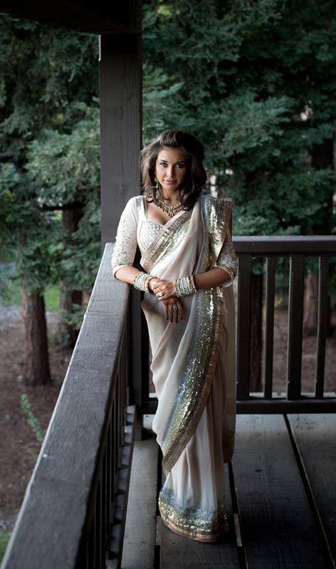Satya Paul saree worn by Lisa Ra