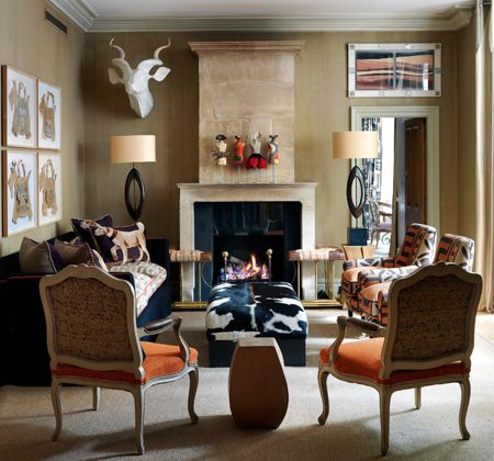 Wit & Whimsy at the Knightsbridge Hotel, London - Firmdale Hotels  Love the orange chairs