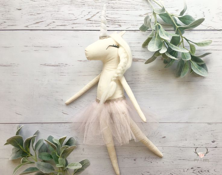 Unicorn plush | Plush Unicorn Toy | Heirloom Doll | Blush Pink Tulle Skirt Unicorn doll | Unicorn Nursery Decor | Toddler Unicorn Decor | by PaigeAndPoppy on Etsy https://www.etsy.com/listing/494434972/unicorn-plush-plush-unicorn-toy-heirloom