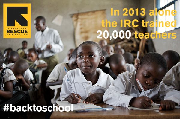 In 2013 @IRCuk @theIRC trained 20,000 teachers #backtoschool