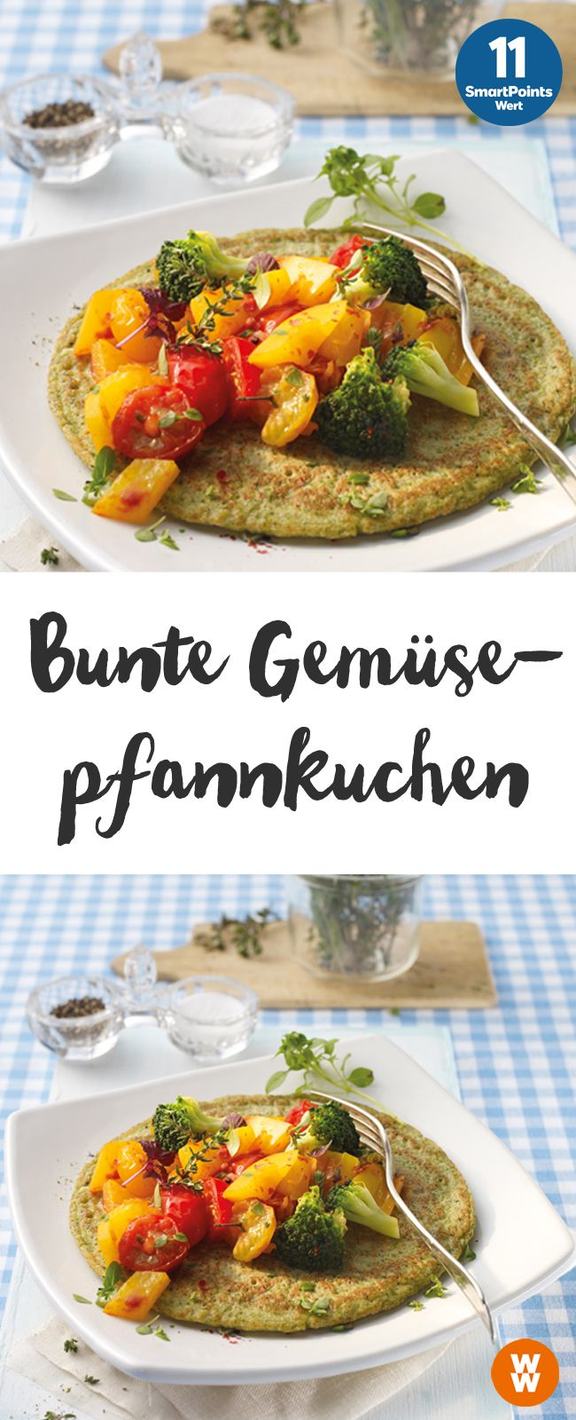 Bunte Gemüsepfannkuchen | 2 Portionen, 11 Punkte/Portion, Weight Watchers, fertig in 35 min.