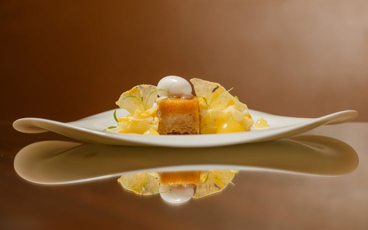 Bacchus South Bank   Dessert   Pineapple upside down cake with coconut water sorbet   Gluten free   Dairy free   Vegan