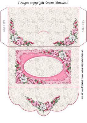 gift envelope money wallet roses for wedding birthday