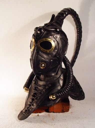 Thirteen Recycled Steampunk Gas Masks