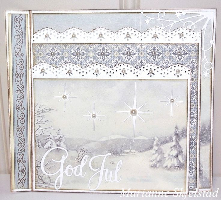 Christmas is approaching and today I've made Christmas card with three pages from the Days of Winter collection.I wish you all a lovely day,Marianne.Pion products:Days of Winter – Erik and Elsa PD5102Days of Winter - Blue  Ornament PD5108Days of Winter – Curch PD5105Days of…