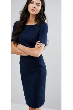 Vero Moda Vasco High Neck Bodycon Dress - Navy #modasto #giyim #moda https://modasto.com/vero-ve-moda/kadin/br3128ct2