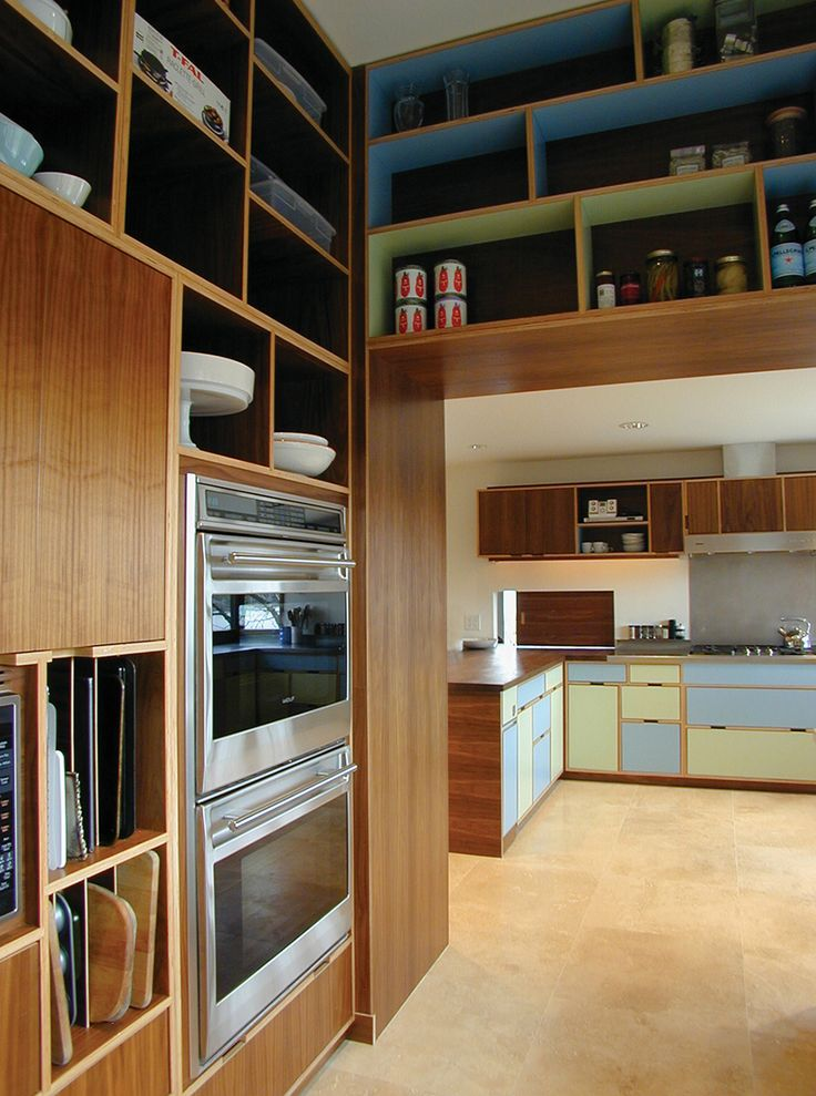 Pretty Kitchen Kerf Cabinets With Double Oven For