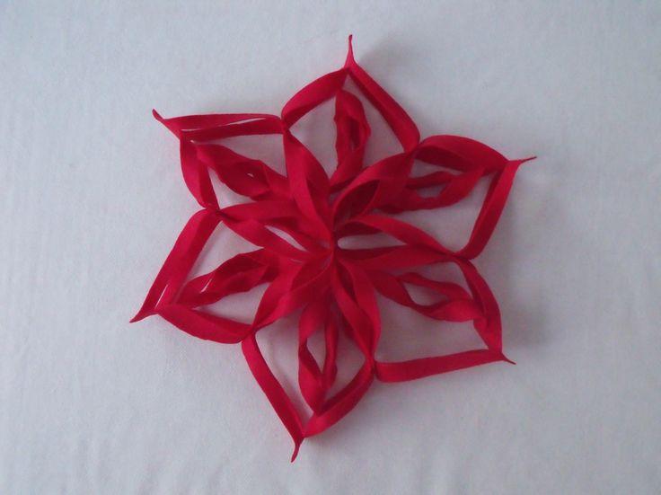 how to make a christmas felt star decoration diy - tutorial come fare una stella di natale in feltro addobbi natalizi fai da te