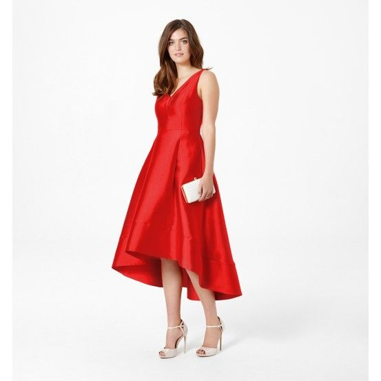 Lydia V-neck High-Low Prom Dress