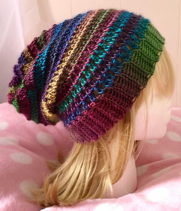 CUTE!! BEAUTIFUL Multi-Coloured Woollen Hand Crocheted Hat