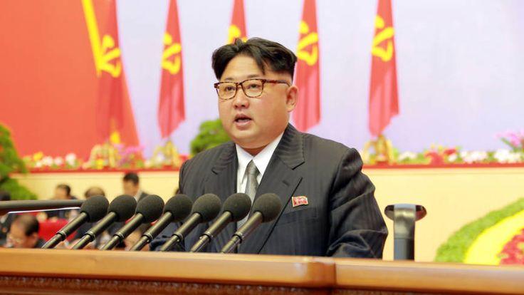 Kim Jong-un op het congres van de communitische partij, mei 2016. NOS.nl