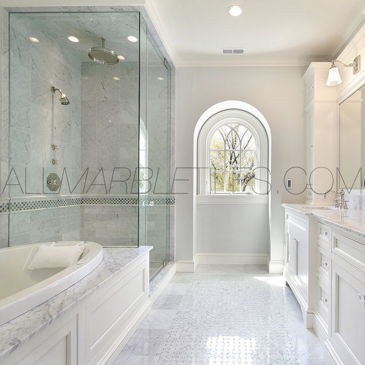 17 best images about bianco carrara white marble carrera for Carrera bathroom ideas