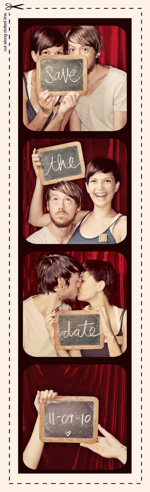 photo-booth style engagement pictures
