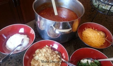 Recipe for Tortilla Soup that is great to serve for a crowd or a party. Place the toppings out and let people serve themselves!