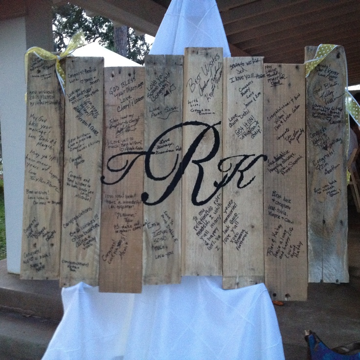 Pallet Guestbook, yep i made this:)