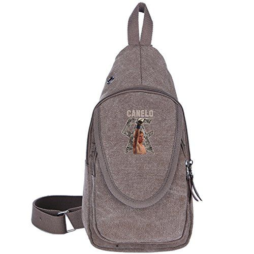 SDfglie Boxer Canelo Alvarez Cool Outdoor Sports Casual Canvas Unbalance Backpack Crossbody Sling Bag Shoulder Bag Chest Bag * Continue to the product at the image link.
