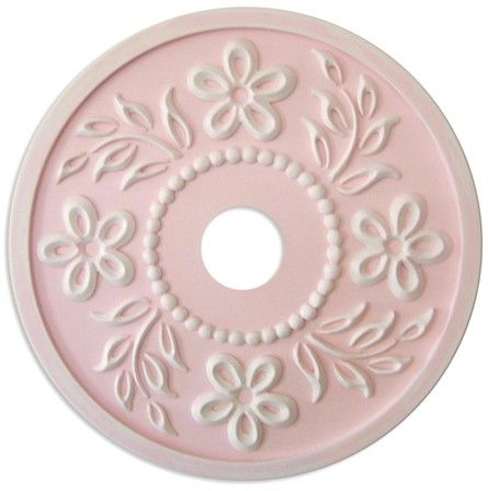 Tropical Hibiscus Round Chandelier Medallion in Multiple Colors