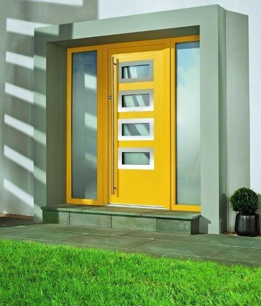 Yellow Composite Front Door | Home Design