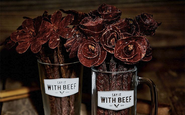 Say It With Beef er blomster af beef jerky