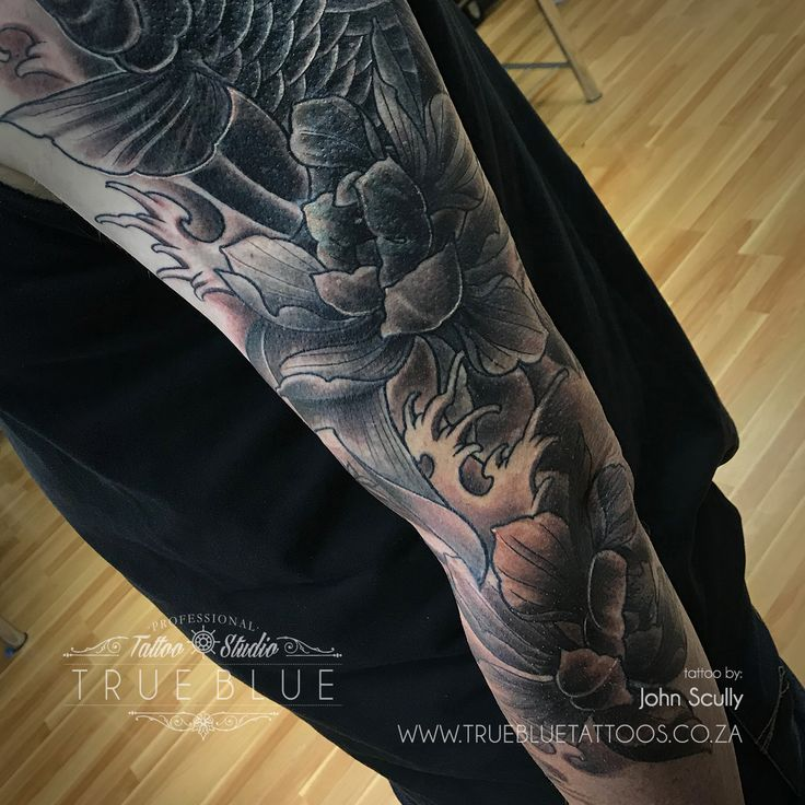 Koi Sleeve in the Making by John Scully of True Blue Professional Tattoo Studio