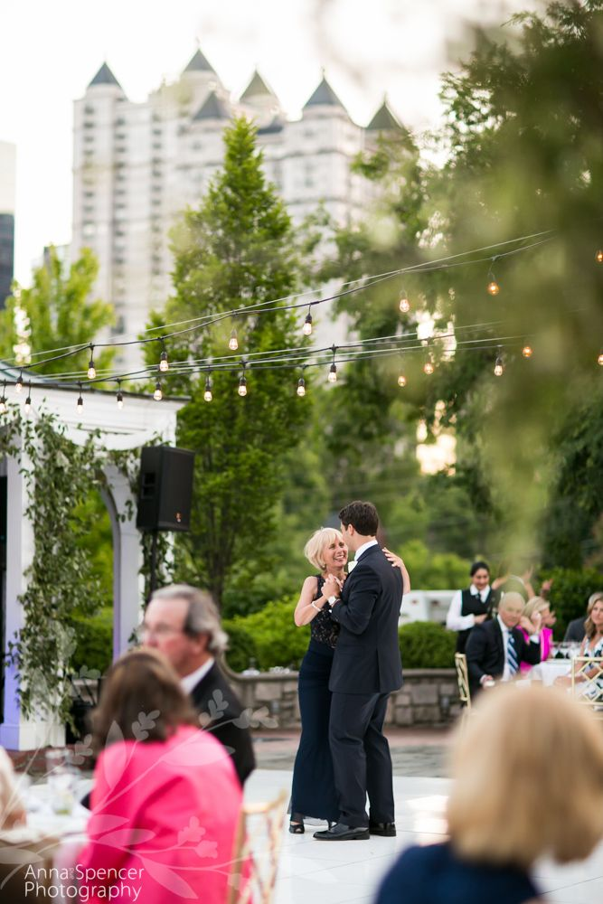 intimate wedding packages atlantga%0A Piedmont Driving Club  Atlanta skyline wedding reception  Mother son dance
