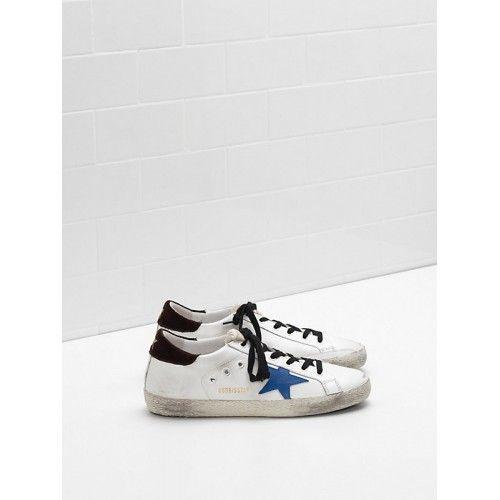 Vendre GGDB 2017 Golden Goose DB Superstar Femme Sneakers Blanc Bleu Noir