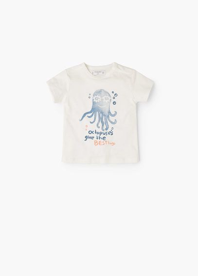 Bawełniana koszulka ze zdjęciem | MANGO KIDS