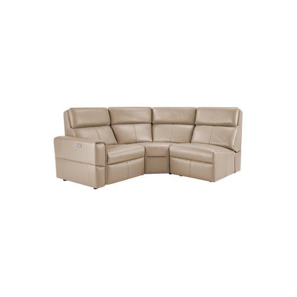 Samson Modular Group 6 In Beige Leather In 2020 Leather Sectional Sectional Sofa 3 Piece Sectional Sofa