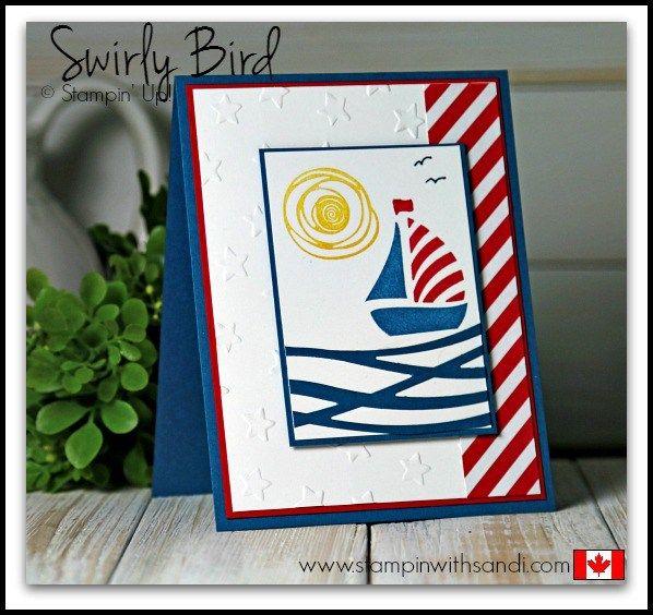 Stampin Up Swirly Bird Patriotic Cards
