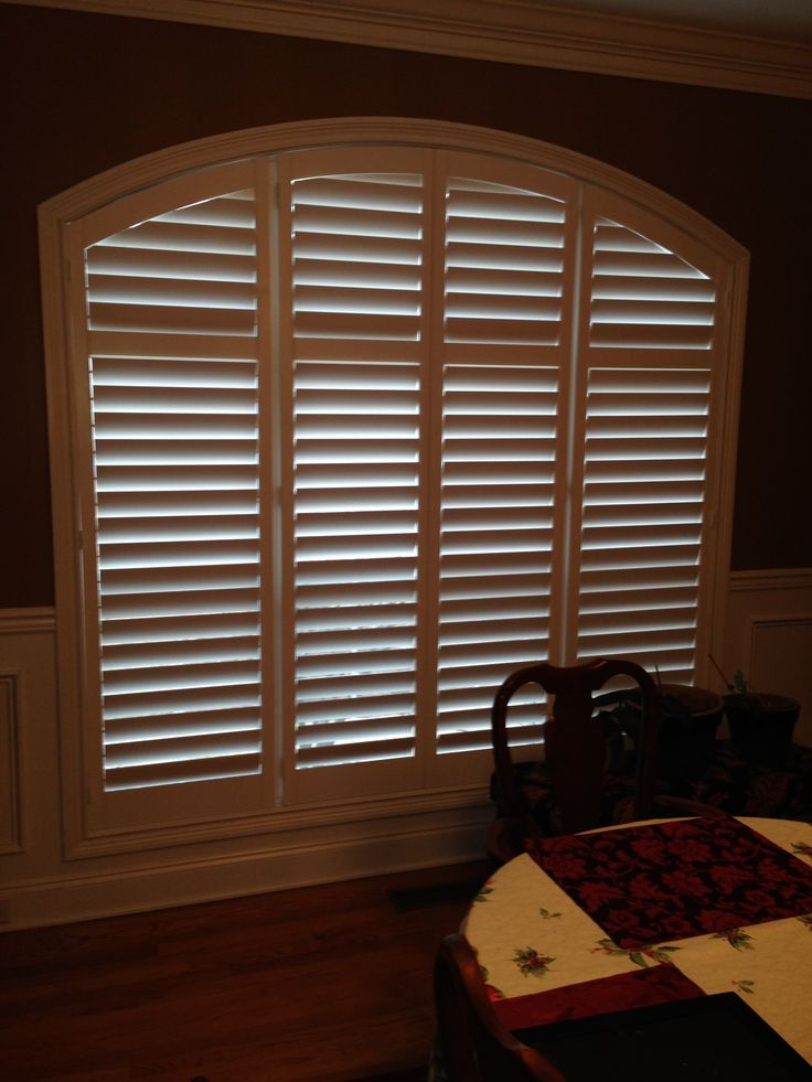 83 Best Arched Plantation Shutters Images On Pinterest