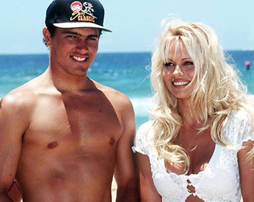Kelly Slater and Pamela Anderson. Lols