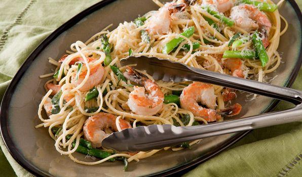Asparagus and Shrimp Linguine
