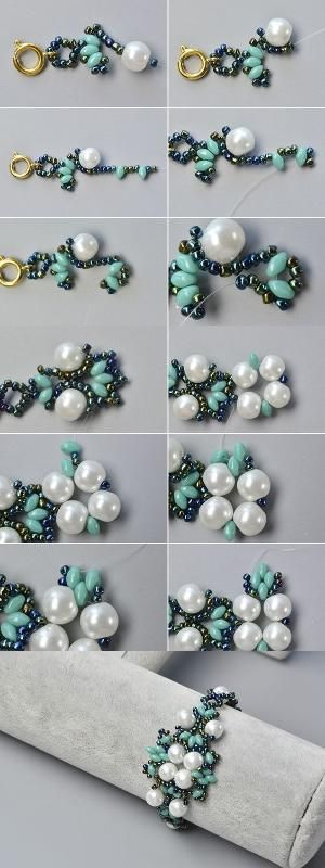 Like the 2-hole seed beads flower bracelet?The details will be published by LC.Pandahall.com soon.   Bracelets & Bangles 2   Pinterest by Jersica