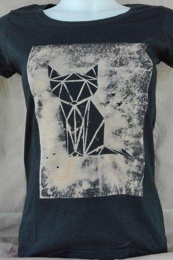 Fox Bleached T-Shirt Volpe Taglia S / Size S di GalArtCreations