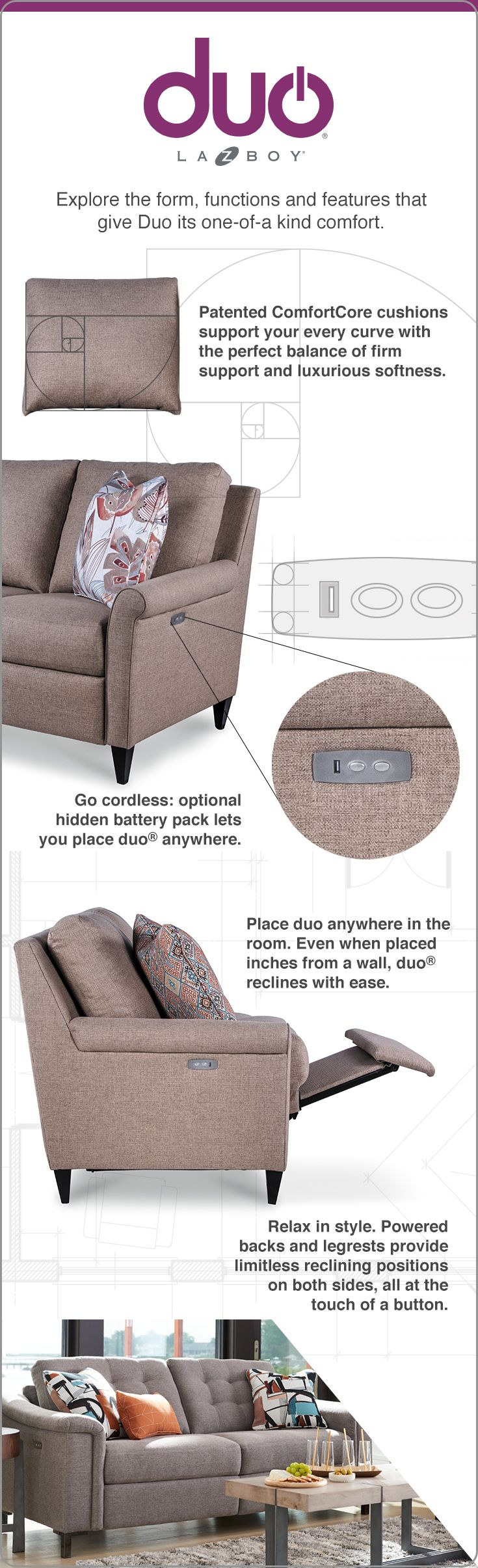 The Key To A Restful Sit The 3 R S Relaxing Reclining And Recharging Luckily For You Duo Does Small Living Room Furniture Furniture Living Room Furniture